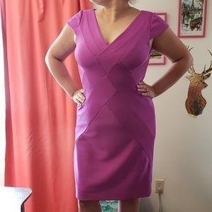Kay Unger Purple Body-Con Bandage Dress Sz 10